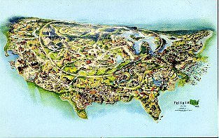 Postcard (Overview of Freedomland)