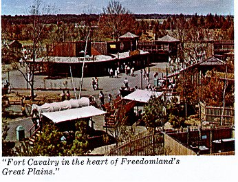 Fort         Calvary in the heart of Freedomland's Great Plains