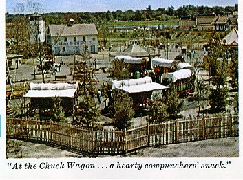 At the         Chuck Wagon... a hearty cowpunchers' snack